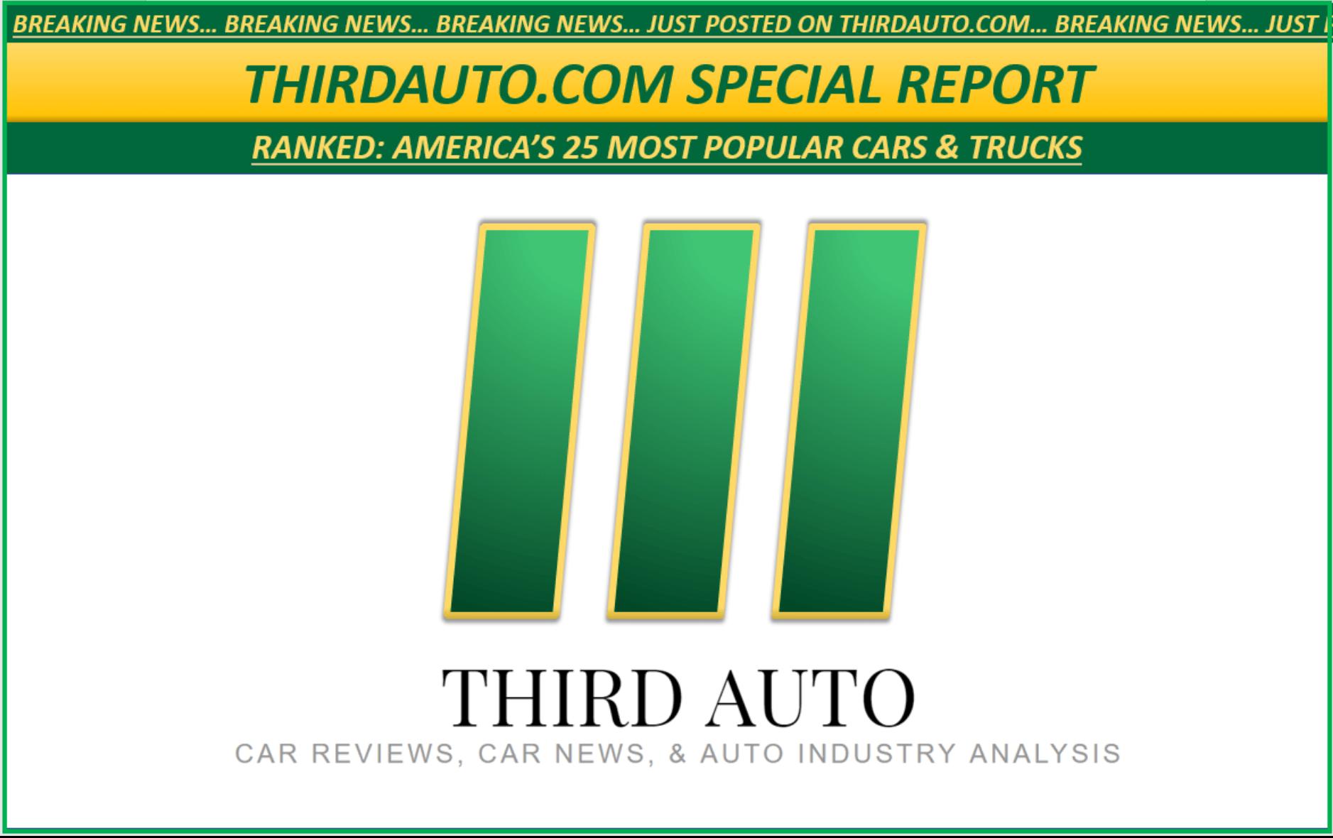 Ranked: America's 25 Most Popular Cars & Trucks